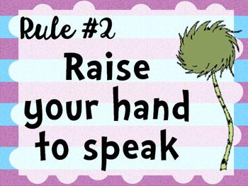 Dr. Seuss Class Rules (Lorax Truffula Trees)