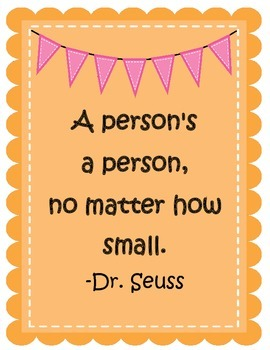 Dr. Seuss Classroom Quotes Posters