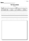 Dr Suess- Fox in Socks-  Writing Response Activity Worksheet