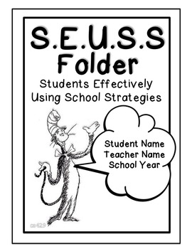 Dr. Suess Inspired Editable Notebook & Folder Covers