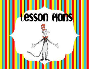 Dr. Suess Lesson Plan Book