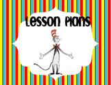 Dr. Suess Lesson Plan Book