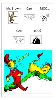 Dr. Suess: Mr. Brown Can Moo- Interactive Adapted Book