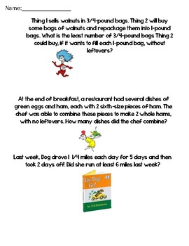 Dr.Suess Problem Solving