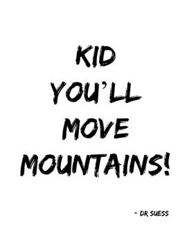 Dr Seuss Quotes, FREE Posters, Dr Seuss Week, Inspiration Classroom Decor