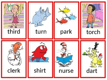 Dr. Suess R-Controlled Vowel  ~ Go Fish Game