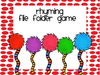 March is Reading Month File Folder Game