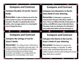 Dr. Suess Close Read Task Card Activities and CentersFREEBIE SAMPLER