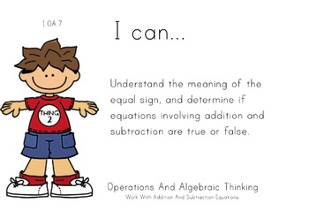 Dr. Suess Theme 1st grade math Common Core Posters first Grade Standards