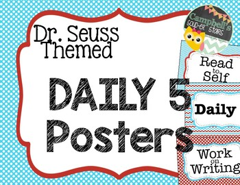 Dr Seuss Theme {Daily 5 Posters}