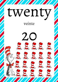 Dr. Suess Themed Numbers (Spanish/English)