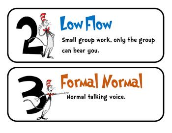 Dr. Seuss Themed Noise Levels