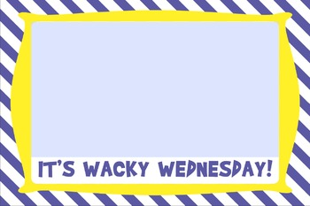Dr. Seuss Inspired Wacky Wednesday observation and writing activity