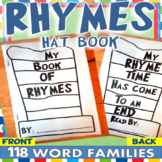 RHYME HAT BOOK 118 WORD FAMILIES / Read Across America / Dr Seuss