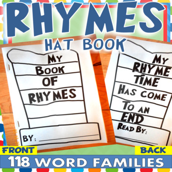 Dr. Seuss Week RHYME HAT BOOK 118 WORD FAMILIES