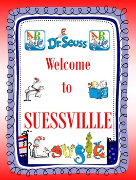 Dr. Suess Welcome Sign