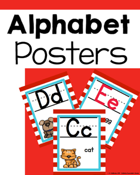 Dr Seuss inspired Alphabet posters