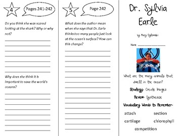 Dr. Sylvia Earle Trifold - 5th Grade Literacy by Design Theme 7