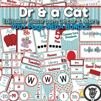 Dr & a Cat Theme (Seuss Inspired)