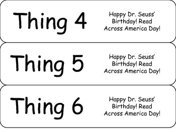 Dr.Seuss's Birthday Things Bookmarks