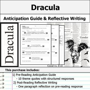 Dracula - Anticipation Guide & Reflection