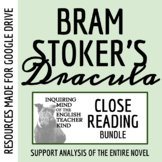 Dracula by Bram Stoker Bundle of Close Reading Assessments