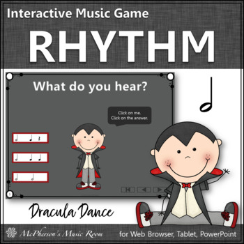 Halloween Music Game ~ Half Notes Interactive Rhythm Game {Dracula}