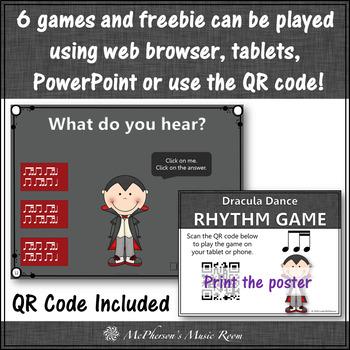 Fall Music Games: Interactive Rhythm Games Bundle {Dracula}