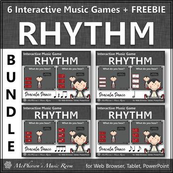 Halloween Music Games ~ Interactive Rhythm Games Bundle {Dracula}