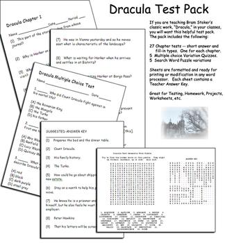 Dracula Literary Test Pack
