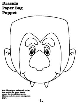 Dracula Paper Bag Puppet