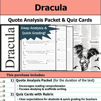 Dracula - Quote Analysis & Reading Quizzes