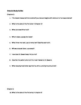 Dracula Study Guide Ch. 5-6