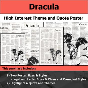 Dracula - Visual Theme and Quote Poster for Bulletin Boards