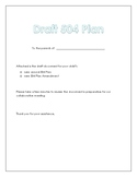 Draft 504 Plan Cover Letter for Parents