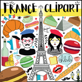 FRANCE CLIPART BUNDLE - 215 FRENCH CLIPART - Food, Charact