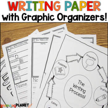 Writing Paper with Built in Graphic Organizers Writer's Workshop Writing Centers