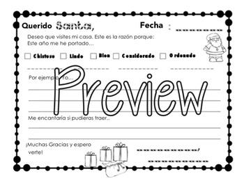 Draft a letter to Santa/ Escribir una Carta a Santa