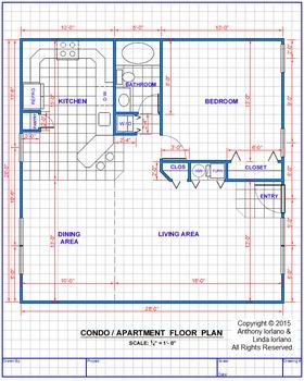 Drafting Apartment/Condo Floor Plan