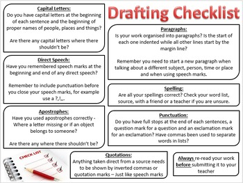 Drafting Checklist