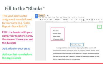 Drafting an Essay Walkthrough/Webquest