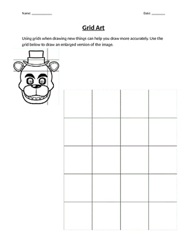 Drafting and Grid Art Worksheet