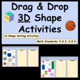 Drag & Drop 3D Shape Activities - Google Slides Shape Sorts - Distance Learning
