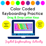 Color Coded Keyboarding Drag & Drop Keyboard Letters Activity - PowerPoint