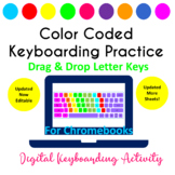 Color Coded Keyboarding Drag & Drop Keyboard Letters Activity for Google