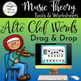 Drag and Drop Alto Clef Words for Google Slides