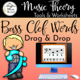 Drag and Drop Bass Clef Words for Google Slides