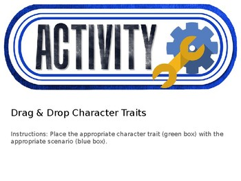 Drag and Drop: Character Traits
