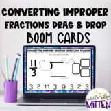 Drag and Drop: Convert Improper Fractions to Mixed Numbers