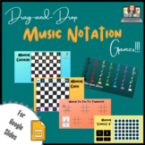Drag-and-Drop Music Notation GAMES (Google Slides)